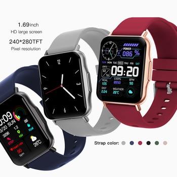 LYKRY Q15 Smart Watch Smartwatch Women 1.69 inch Screen 22MM DIY Watch Face Long Battery Blood Presure Men's Watches PK P8 PLUS 3