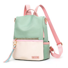 New backpack candy color lady Oxford multi-function backpack casual anti-theft backpack teen girl bag 2019