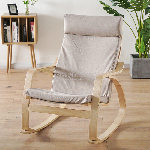 30%1B Nordic Rocking Chair Lazy Couch Balcony Chair Lounge Chair Pregnant Woman Recliner Adult Home Arm Chair