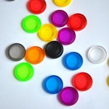100pcs 18 มม.Binding แผ่นโน้ตบุ๊คเห็ด Hole ปุ่ม Notepad พลาสติกหัวเข็มขัดหลวมที่มีสีสัน Binder แผ่น planner