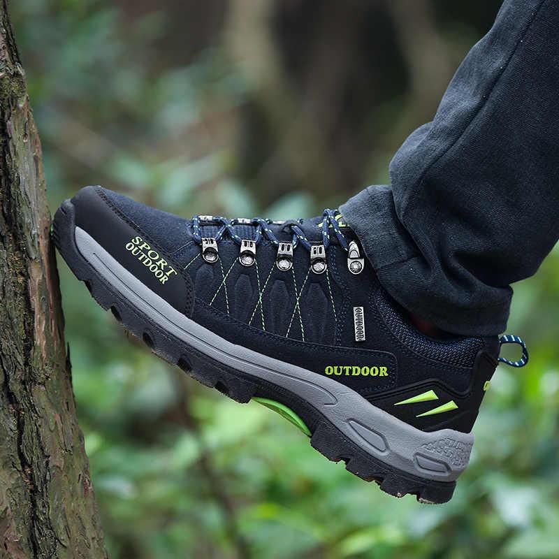 PHERON sonbahar/kış ayakkabı erkekler artı boyutu 47 nefes moda erkekler rahat ayakkabılar açık erkek Sneakers marka Flats çift ayakkabı