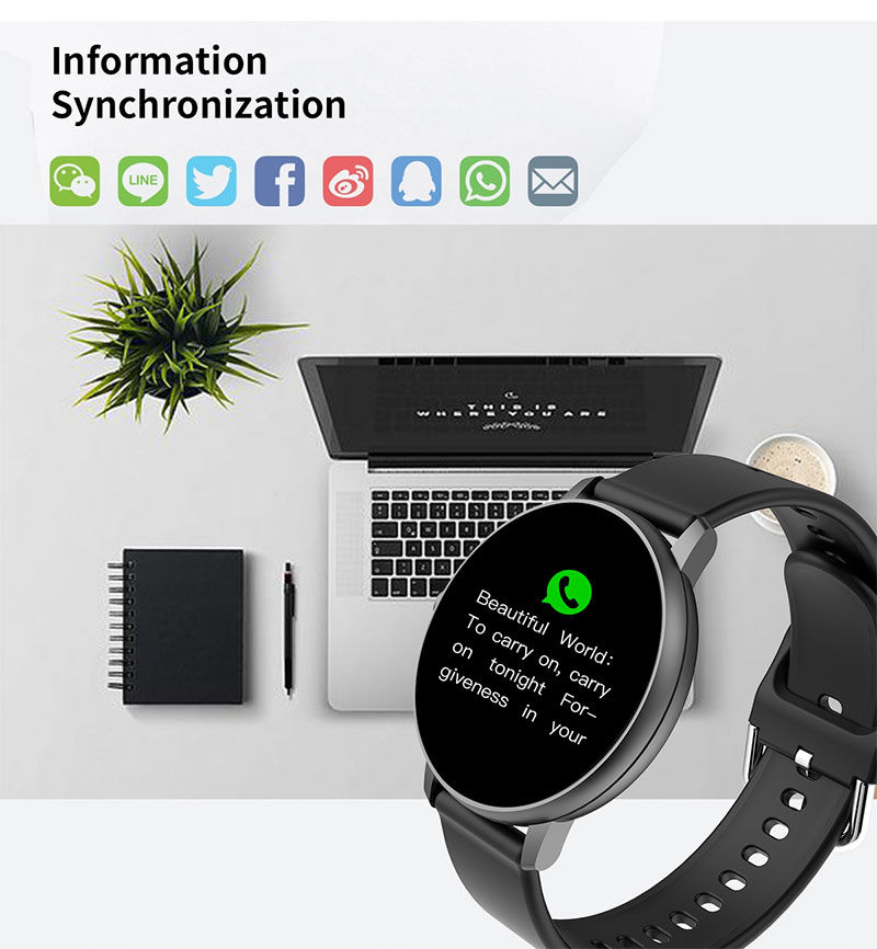 Hee8bb52e127d44969b9f7b6ae221676fy 2020 Full Touch Smart Watch Heart Rate Fiteness Tracker Blood Pressure