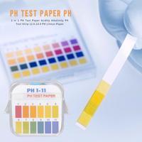 Tira teste de ph da acidez 2 em 1  tira para teste de ph 1-11  12.0-14.0 ph  papel litmus