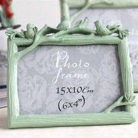 New Green Table Photo Frame Resin Pictures For Living Room 1 PC Desk Picture Frame Home Decoration Pastoral Style Desktop Frame