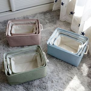 New Large Non-Woven Folding Storage Box For Toys Organizers Fabric Storage Bins With Lid Home Bedroom Closet Office Storage Boxs