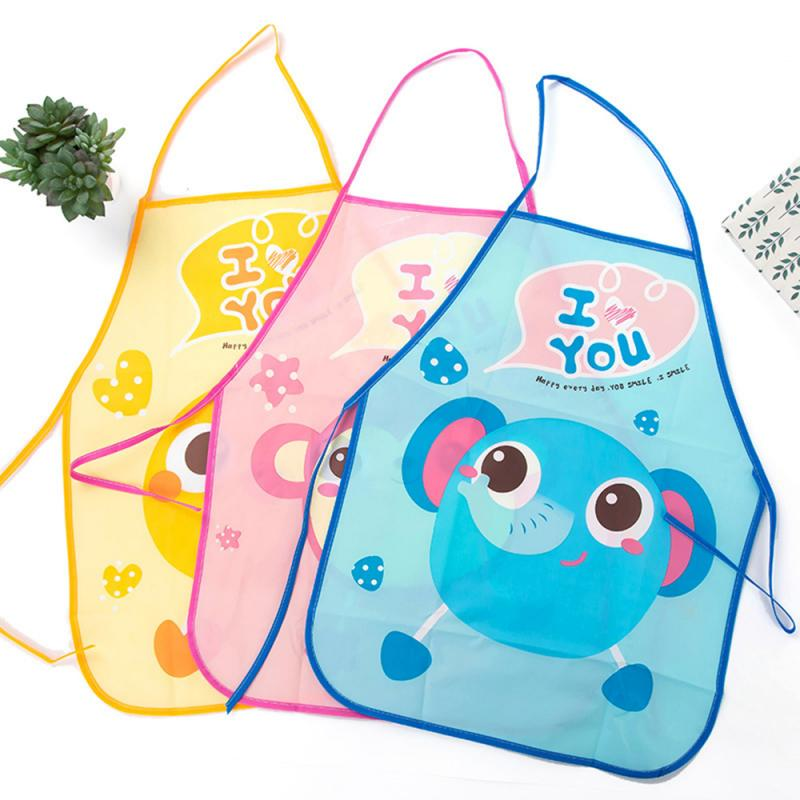 Neue 1 Set Kinder Cartoon Schürze Manschette Kit Küche DIY Backen Malerei Pinafore + Arm Hülse Wasserdichte Schürzen Küche Zubehör image