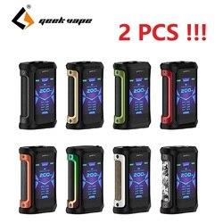2PCS Geekvape Aegis X box mod 200W 2.0 AS chipset waterproof Electronic Cigarette Vape fit Cerberus Tank vs ageis solo Vaporizer
