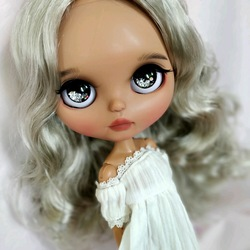 ICY 19 joint blyth doll with makeup face white skin DIY The blonde makeup doll with Sleep eyes