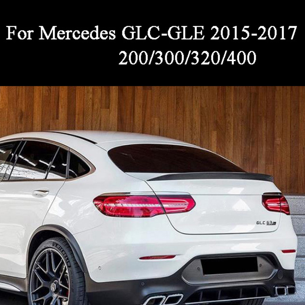 For Mercedes-Benz GLC GLE 200/300/320/400/450 Coupe ABS Rear Trunk Spoiler Wing Lip 2015 2016 2017