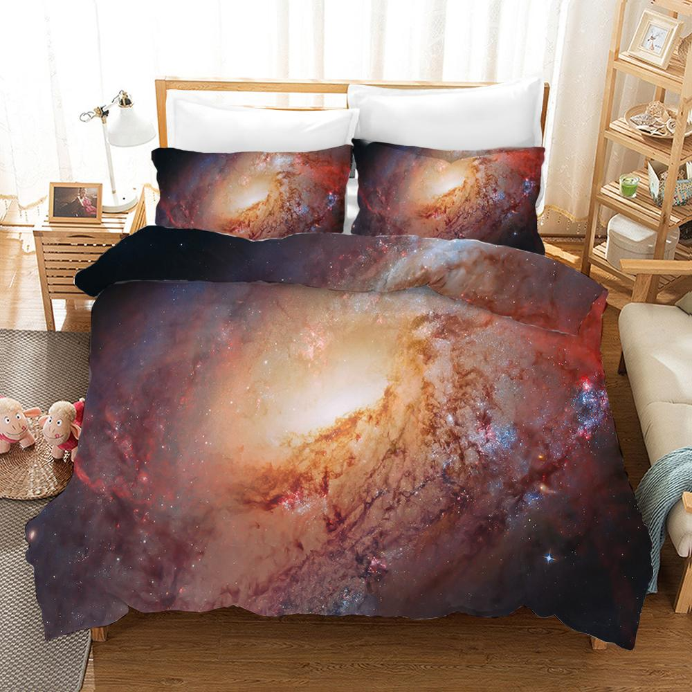 Luxury Starry Milk Way Bedroom Decor Bedding Set 100% Microfibe 1PC Duvet Cover With Pillowcases No Comforter Drop Ship