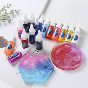 10ML Epoxy Resin Diffusion Pigment Epoxy UV Resin Pigment ink Liquid Colorant Dye Ink Diffusion Resin Jewelry Making sparkling starry sky art ink pigment colorant ink diffusion resin jewelry making