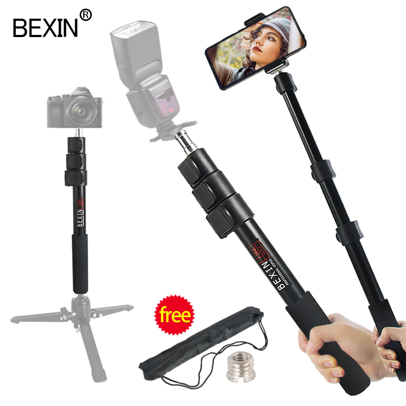 BEXIN flash accessories 102cm portable handheld flash bracket 1/4 screw interface photography light stand photo support rod