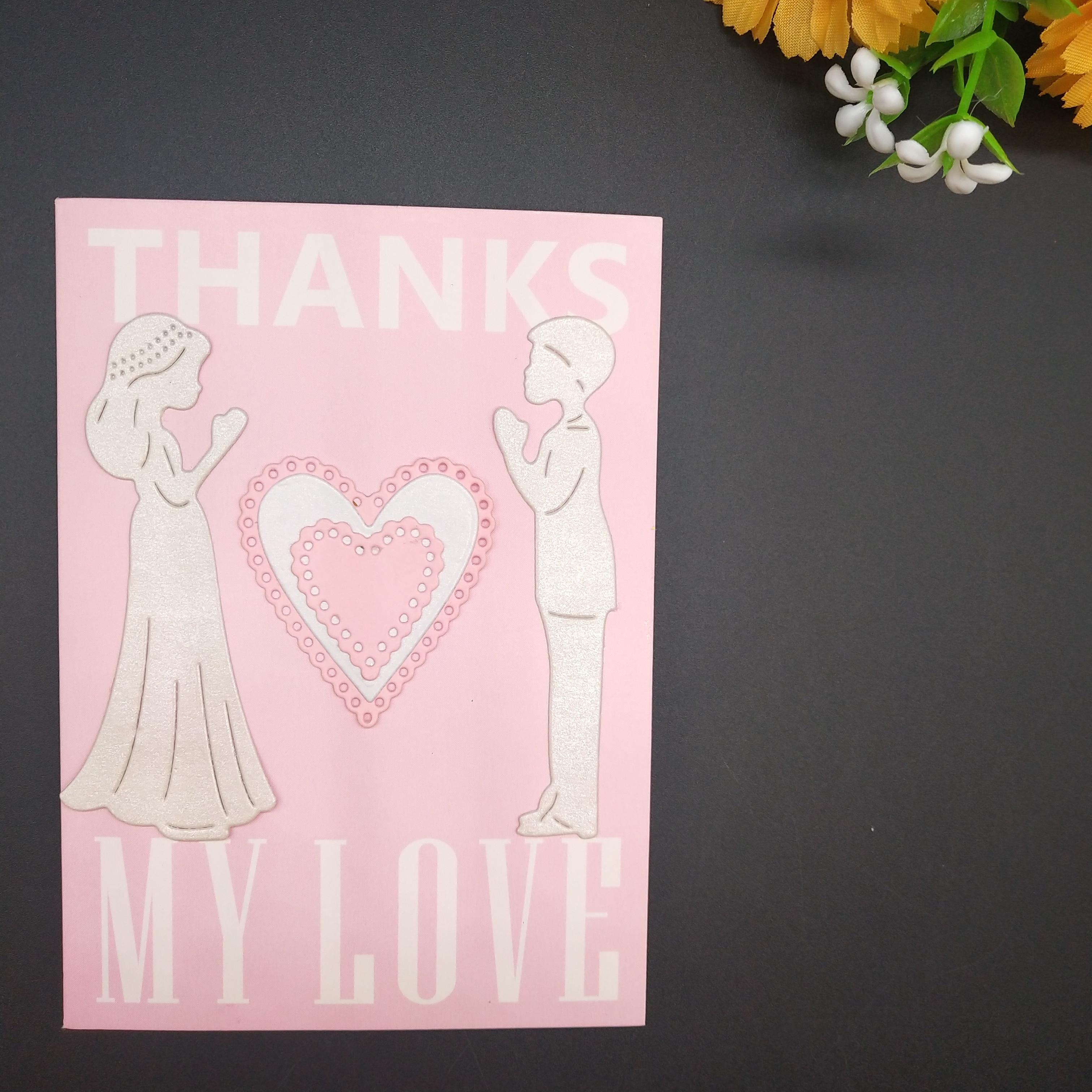 80*55mm Wedding wish new Metal Cutting Dies for decoration card DIY Scrapbooking stencil Paper Craft Album template
