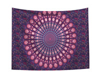 Indian Mandala Wall Hanging Table Cloths Cotton Handmade Dorm Decor Art Tapestry Tapestry Hippie Bedspread Wall Hanging