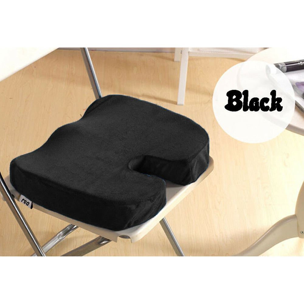 U Shape Car Seat Cushion Memory Foam Black Protector Seat Cushion Support for Universal Car Office Home Using|Automobiles Seat Covers| |  - title=