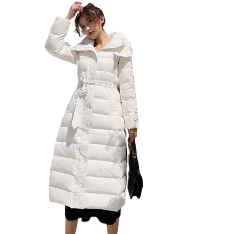 Marten Hair Fur Collar Clothes White Duck   Down   Vintage Plus Size Oversize Elegant Manteau Femme Hiver Parker Winter   Coat   Women
