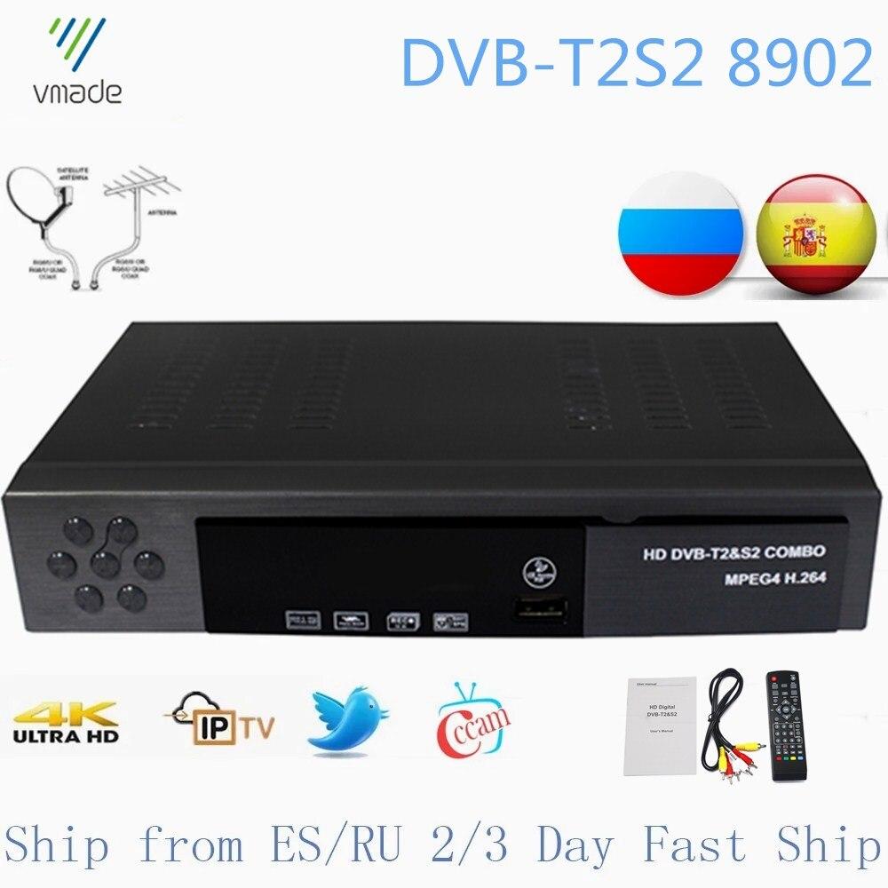 Vmade DVB T2 DVB S2 2 в 1 комбо цифровой наземный спутниковый ТВ тюнер Поддержка Cccam IPTV Bisskey Полностью 1080P H.264 HD аудио|Спутниковое ТВ|   | АлиЭкспресс