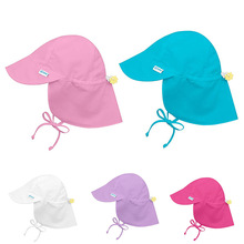 Summer Baby Flap Sun Hat UPF 50 all-day sun protection for head neck & eyes Cover Anti UV beach Caps Kids Boy Girl swimming cap all sun