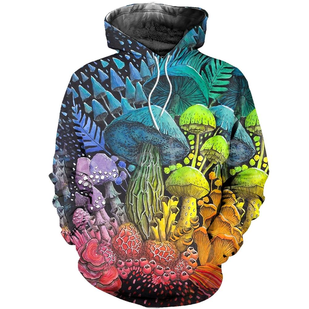 Tessffel Newest Plants Mushroom Fungus Camo Funny New Fashion Tracksuit Pullover 3DPrint Zipper/Hoodies/Sweatshirts/Jacket A-1