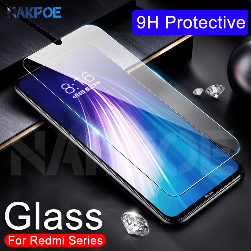 9H Protective Glass On The For Xiaomi Redmi 8 8A 7 7A 6 Pro 6A Go K20 Screen Protector Redmi Note 8 7 6 Pro Tempered Glass Film