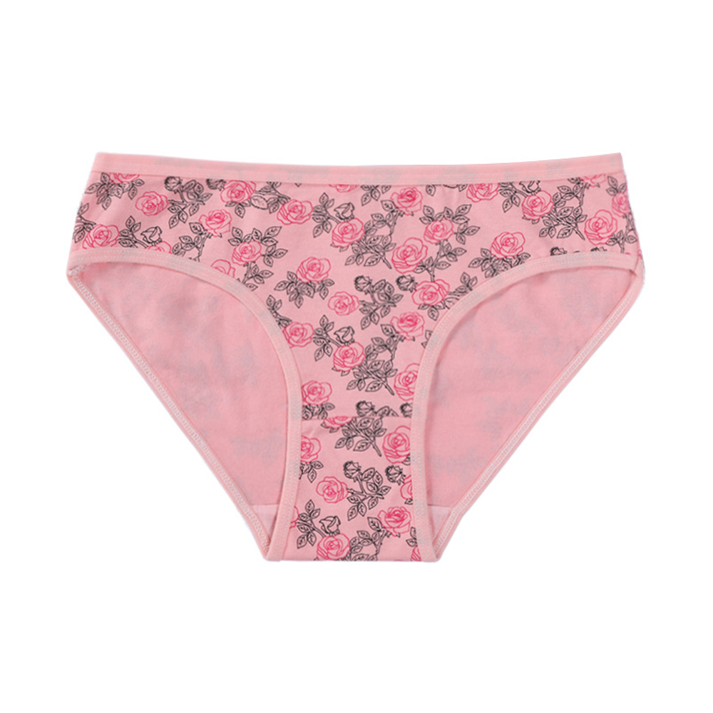 CWFMZQ Women's Underpants Soft Cotton Panties Girls Briefs Floral Print Panty Sexy Lingerie Female Underwear Large Size Knickers