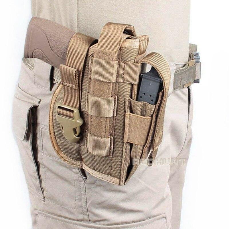 Универсальная кобура для пистолета, тактическая кобура Magzine для правой руки с системой «Молле» для Glock 17/1911
