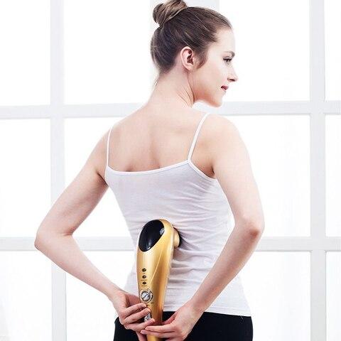 Multifuncional Massageador El trico Massagem Forma U Pitada Esfregar a cabe a de Massagem Para