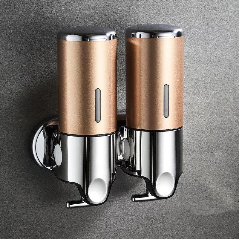 Hee8d87e96dae4c28ba6f6a0b108048165 LIUYUE Liquid Soap Dispenser 500 ml Bathroom Wall Mounted Plastic Shampoo Liquid Dispenser Hand Wash Kitchen Accessories