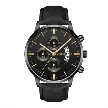 Relogio Masculino Watches Men Fashion Sport Box Stainless Steel Leather Band Watch Quartz Business Wristwatch Reloj Hombre цена 2017