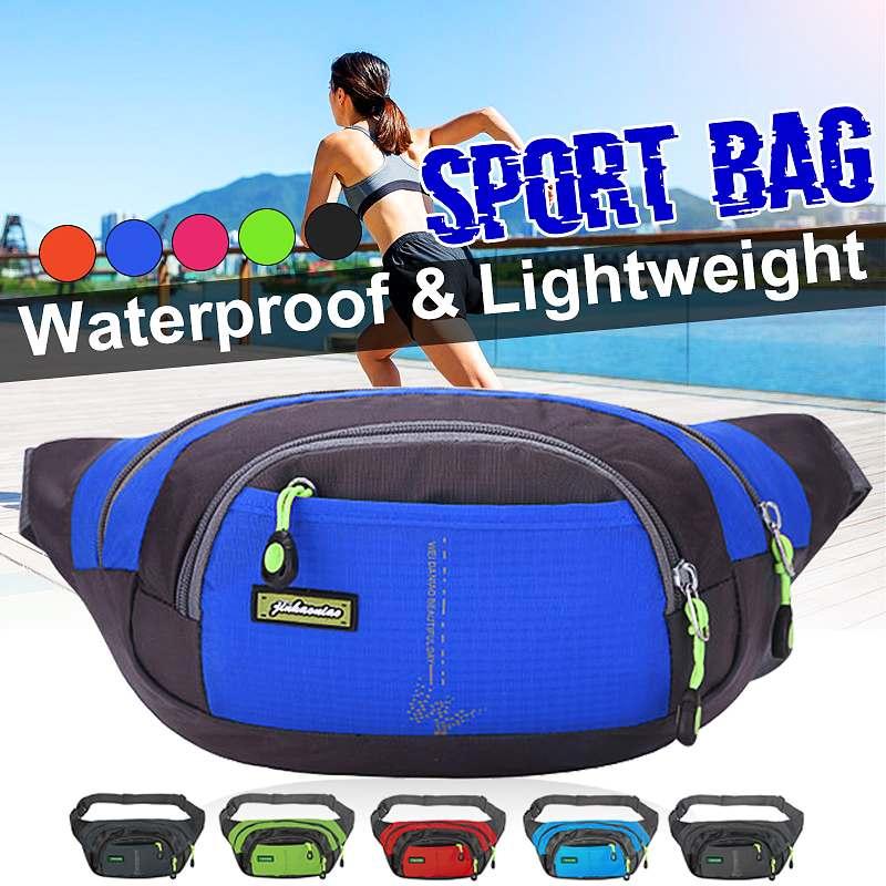 Men Women Fanny Pack Waterproof Zip Waist Bag Outdoor Sports Running Jogging Belt Pouch Water Bottle Money Phone Crossbody Bags