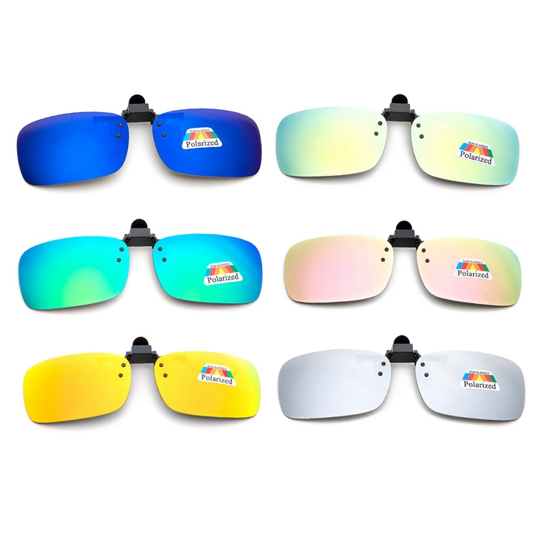 Polarized Clip On Sunglasses Near-Sighted Driving Night Vision Lens Anti-UVA Anti-UVB Car Driver Goggles Sunglasses Clip