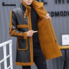 Garmenting мужская куртка из искусственной кожи Модная огромный