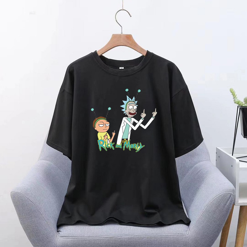 Rick And Morty Harajuku Aesthetics Tshirt Men Print Short Sleeve Tops Tees Summer Fashion T-Shirt Camisetas Mujer