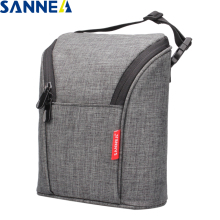 SANNE 600D polyester oxford environmental aluminum film cooler insulated thermal bag ice mummy bottle pack can be portable