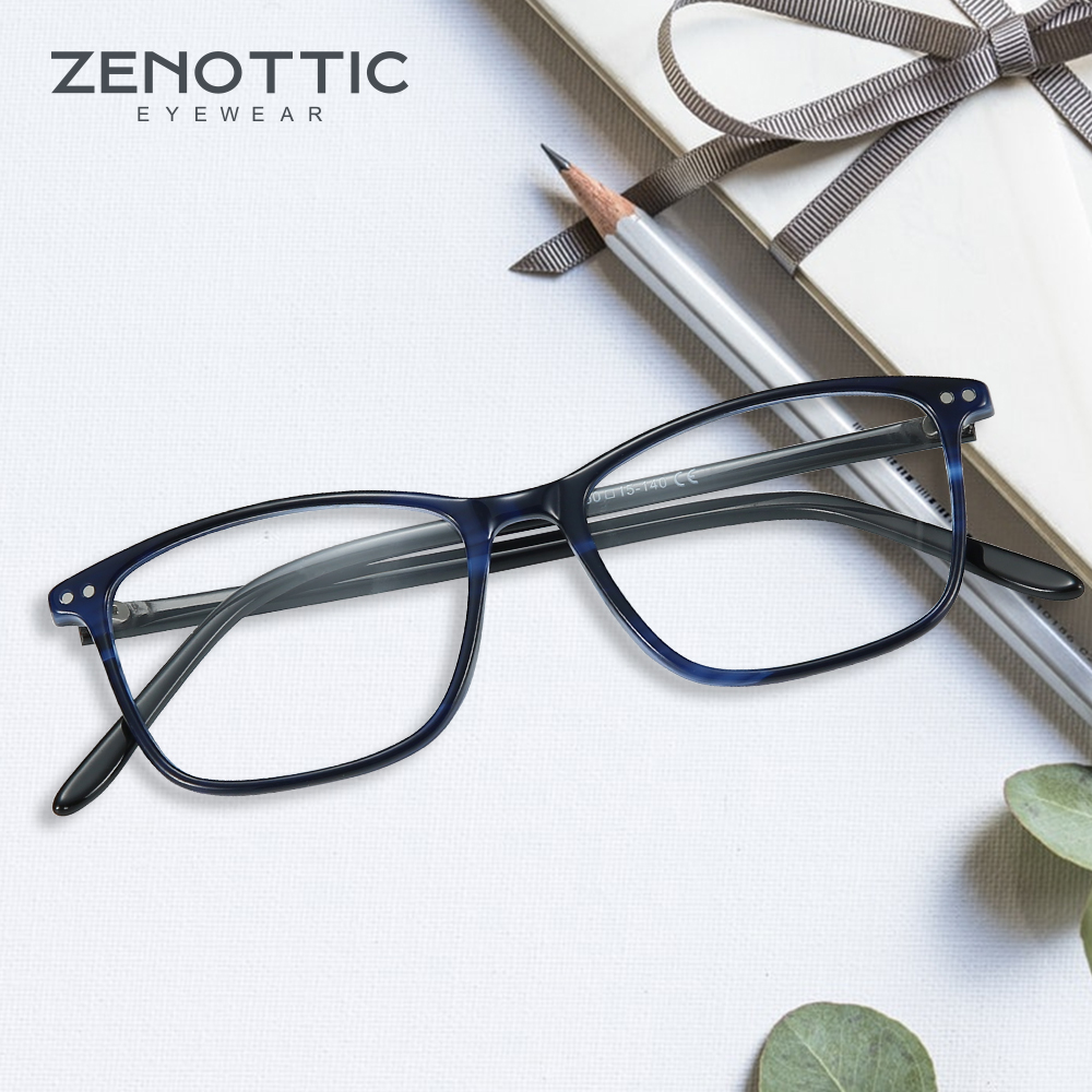 Image 2 - ZENOTTIC Acetate Women Glasses Frame Optical Spectacles Eyeglasses Fashion Design Myopia Glasses Eyewear BT3021Womens Eyewear Frames   -