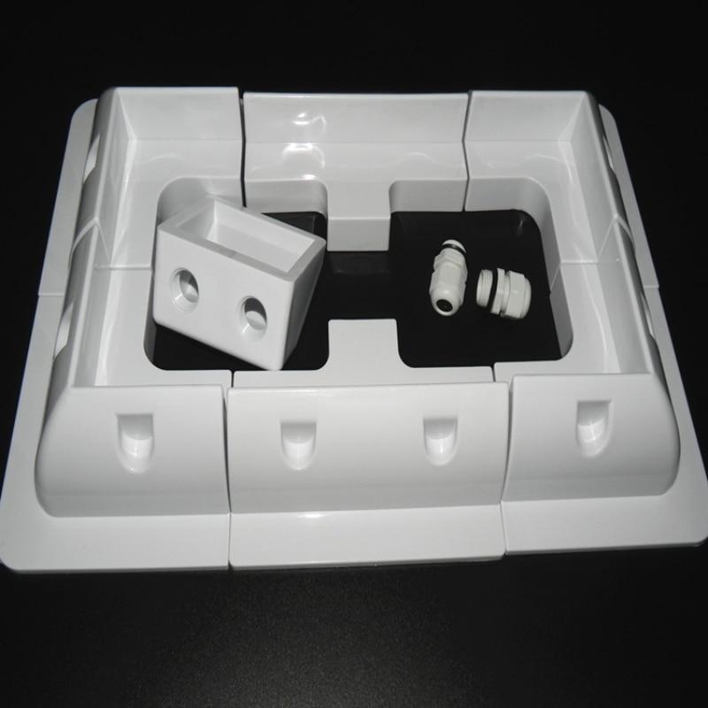 7pcs/set Frame Solar Module Corner Mounting ABS Bracket Kit Motorhome Caravan RV Boat Solar Panel Stand White Or Black