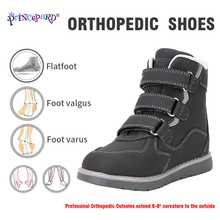 Princepard, botas de nieve de invierno para niños, zapatos ortopédicos con soporte de tobillo para niñas, niños, 100%, zapatos de tobillo de terciopelo para niños