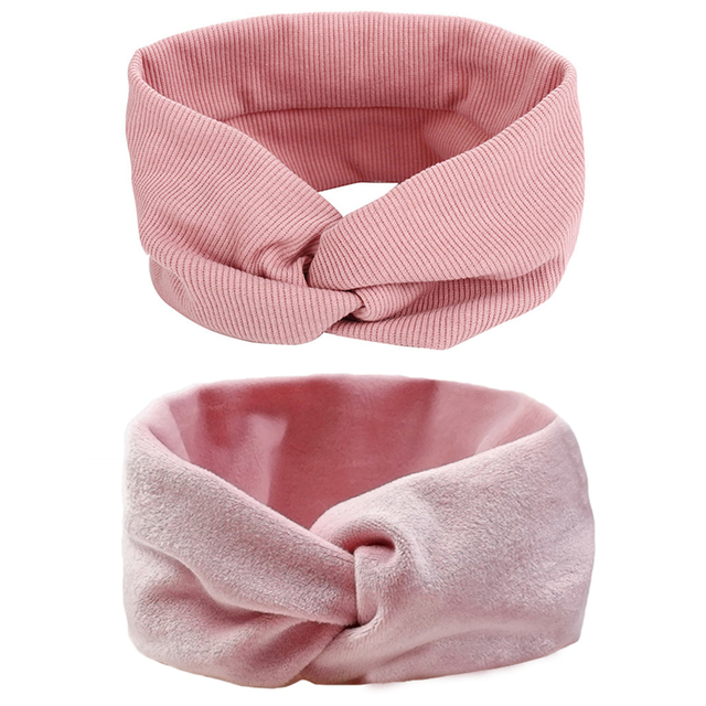 Women Headband Solid Color Wide Turban Twist Knitted Cotton Hairband  Hair Accessories Twisted Knotted Headwrap 5