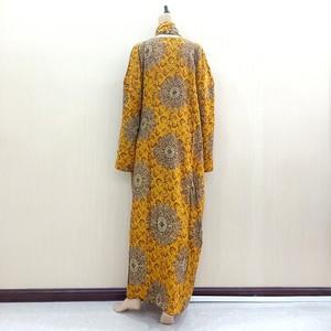Image 2 - Dashikiage Vàng Nguyên Chất Cotton In Hoa Châu Phi Dashiki Váy Đầm Cho Nữ Cỡ Mama Đầm 168 Cm * 119cm Khăn