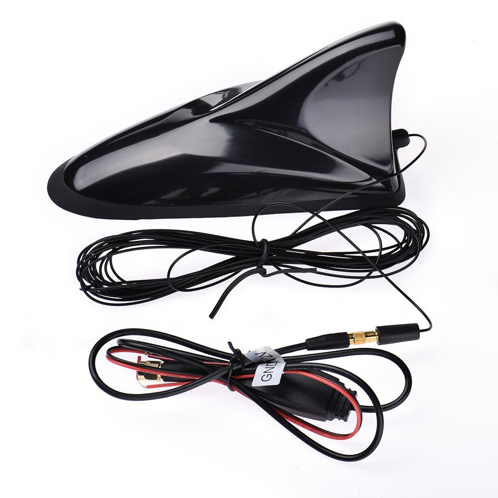 Car Radio Antenna Universal Car Shark TV Antenna DVB-T DVB-T2 ATSC ISDB Digital TV Box SMA Plug Antenna 8 -