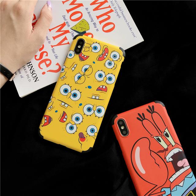 Cute Cartoon Sponge baby Captain Eugene Krabs phone Case