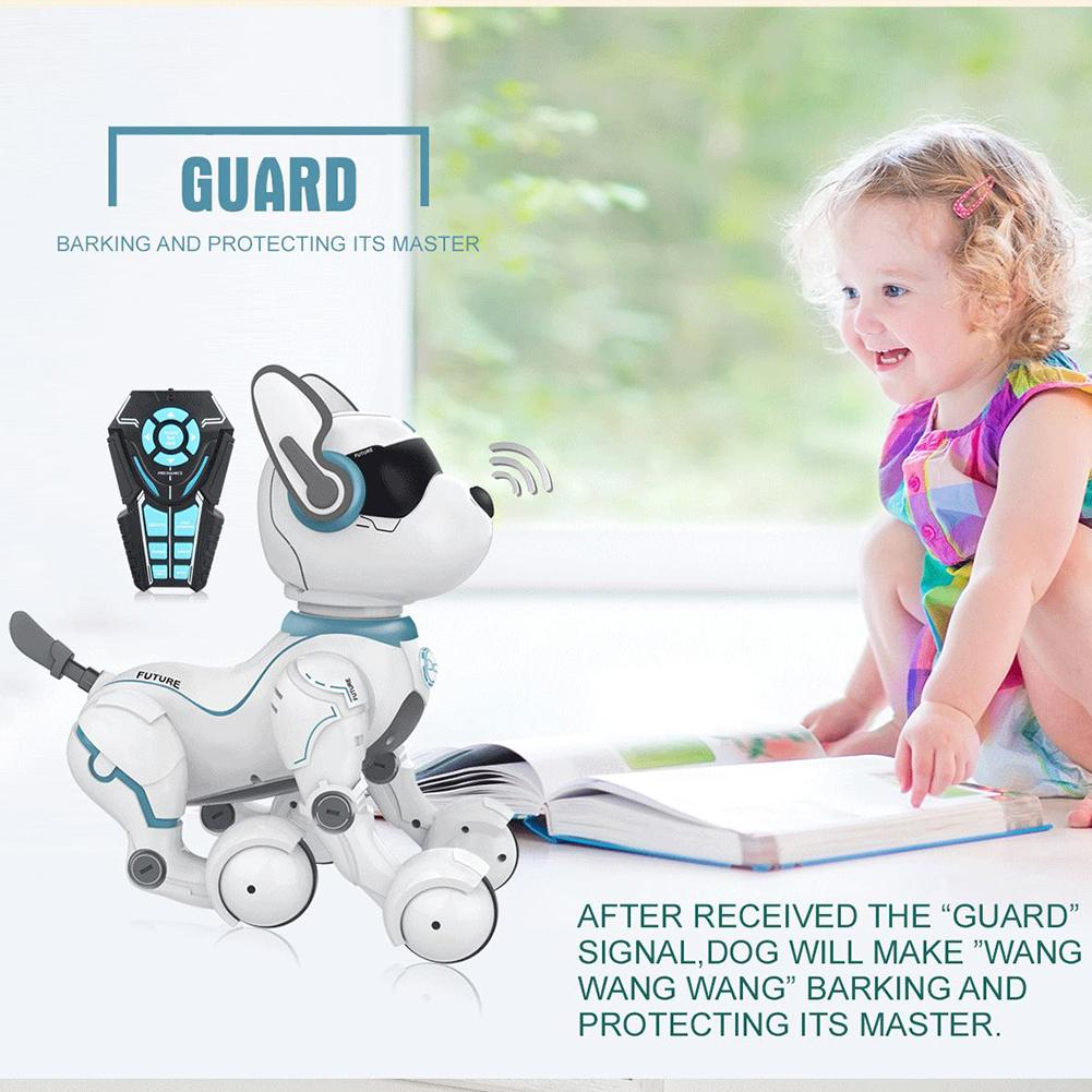 Remote Control Smarts Stunts Robot Dog Intelligent Programming Science EarlyEducation Smarts Dancing Robot Dog Toy For Children