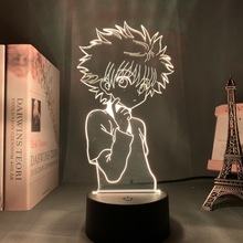 3D lampka nocna Anime Hunter X Hunter dla dzieci dziecko dekoracja sypialni Nightlight Dropshipping Manga prezent Hunter X Hunter lampka nocna tanie tanio 3DLIGHTFX Night Light CN (pochodzenie) Noc światła Z tworzywa sztucznego Żarówki led Touch 110 v 220 v Suche baterii