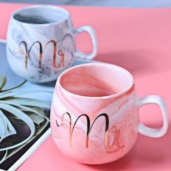 Tazas de café de flamenco, 2 piezas, Taza de cerámica, taza de viaje Mr. Mrs, taza de té de la leche, 250ml, regalo de boda de Navidad, envío directo