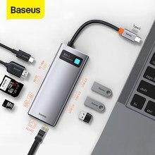 Baseus USB C HUB tipo C a HDMI-adattatore USB 3.0 compatibile 8 in 1 tipo C HUB Dock per MacBook Pro Air USB C Splitter