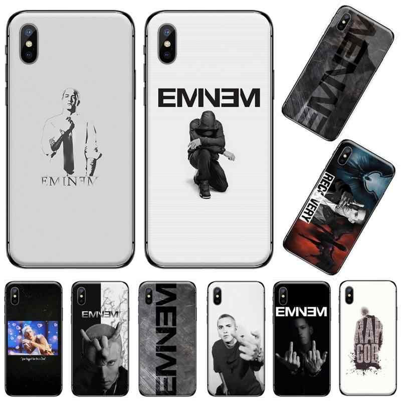 エミネム米国ラップ男性歌手顧客高品質電話ケースのためのiphone 5 5s 5c se 6 6s 7 8 プラスx xs xr 11 プロマックス