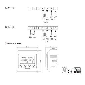 Image 3 - Haozee Z גל בתוספת תרמוסטט רצפת חימום שליטה אלחוטי חשמלי חימום מערכת חכם בית אוטומציה