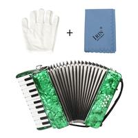 22 Keys 8 Bass Piano Accordion Musical Instrument for Musical Lovers 12.20x11.42x5.51inch