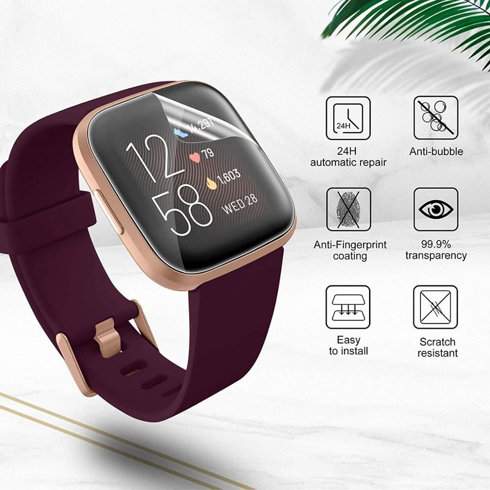 For Fitbit Versa 2 HD film tempered film matte film For Fitbit Versa 2 explosion-proof ultra-thin transparent screen protector 4