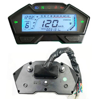 TREYUES 1PC Universal Motorcycle Speedo Odo Tacho Meter Gauge MPH Fuel Gear Indicator For Off road ATV Quad Scooter Accessories